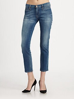 MiH Jeans - Paris Mid-Rise Cropped Jeans