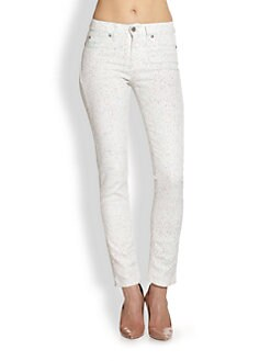 MiH Jeans - Bonn High-Rise Printed Skinny Jeans