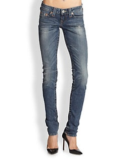 True Religion - Stella Distressed Skinny Jeans