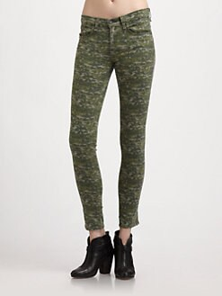 rag & bone/JEAN - Graphic Camo Skinny Jeans