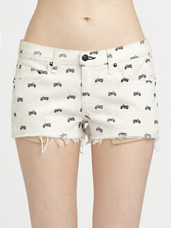 rag & bone/JEAN - Mila Printed Cut-Off Shorts