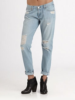 rag & bone/JEAN - Selvage Distressed Boyfriend Jeans