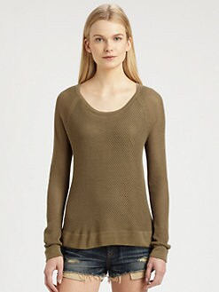 rag & bone/JEAN - Long-Sleeve Mesh Tee
