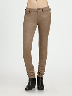 MOTHER - The Looker Faux-Leather Skinny Jeans