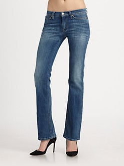 MiH Jeans - Mid-Rise Subtle Bootcut Jeans