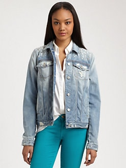 7 For All Mankind - Embellished Denim Jacket