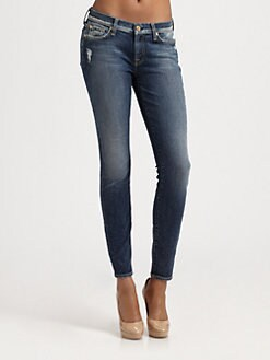 7 For All Mankind - Squiggle Skinny Jeans