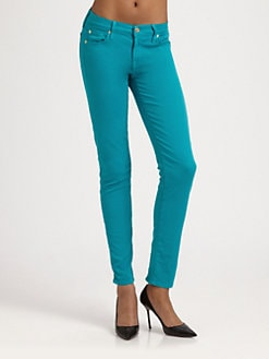 7 For All Mankind - Slim Cigarette Zip Jeans