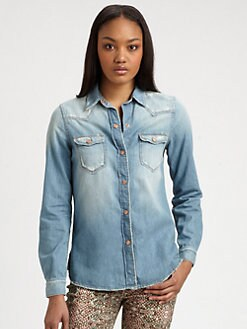 7 For All Mankind - Destroyed Denim Shirt