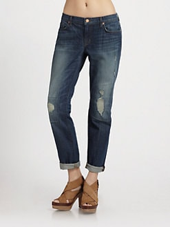J Brand - Aidan Distressed Boyfriend Jeans