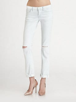 J Brand - 8112 Mid-Rise Rail Straight-Leg Jeans