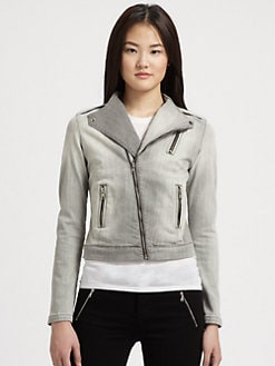 J Brand - Moto-Zip Denim Jacket