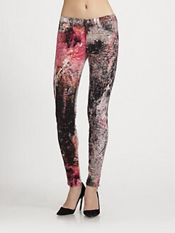 J Brand - Supernova-Print Mid-Rise Super Skinny Jeans