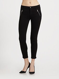 J Brand - Carey Zip Moto Capri Jeans