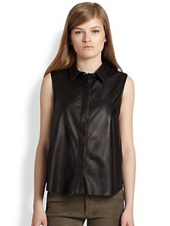 rag & bone/JEAN - Leather Tent Tank Top
