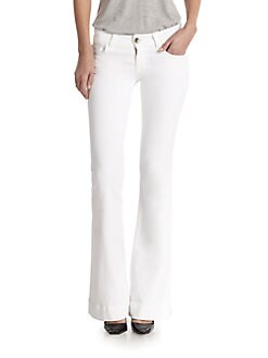 J Brand - Love Story Flare-Leg Jeans/100 Blanc