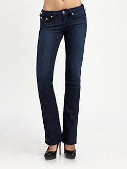 True Religion - Tori Bootcut Staple Stitch Jeans