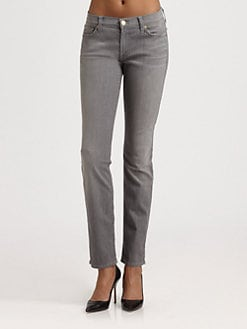 7 For All Mankind - The Slim Cigarette Jeans/Silver Gray
