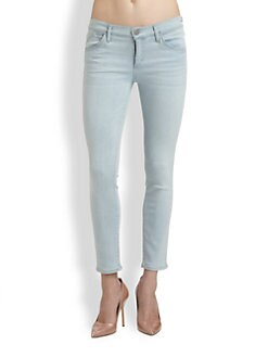 Goldsign - Glam Mid-Rise Crop Skinny Jeans