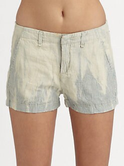 rag & bone/JEAN - Portobello Distressed Striped Shorts