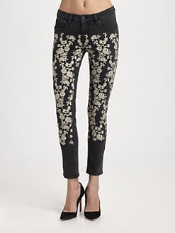 Genetic Denim - The Brooke Embroidered Cigarette Jeans