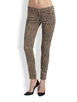 Genetic Denim - The Carley Leopard-Print Skinny Jeans