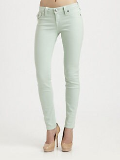 True Religion - Serena Over-Dyed Denim Leggings