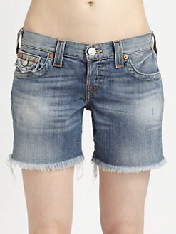True Religion - Jayde Cut-Off Boyfriend Shorts