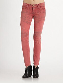Current/Elliott - The Moto Printed Ankle Skinny Jeans