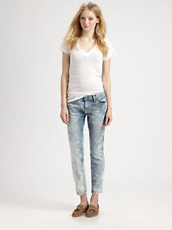 Current/Elliott - The Stiletto Crazy-Wash Jeans