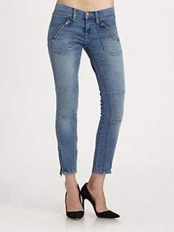 Current/Elliott - The Moto Stiletto Skinny Jeans