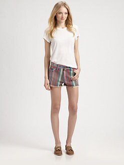 Current/Elliott - The Boyfriend Striped Shorts
