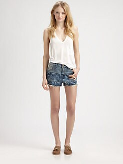 Current/Elliott - The Boyfriend Tribal Cut-Off Shorts