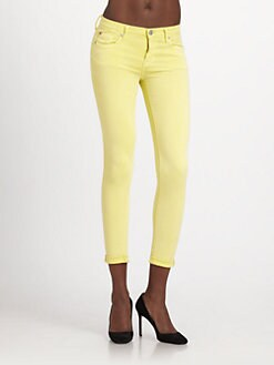 Hudson - Harkin Crop Cuff Skinny Jeans