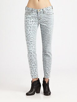 Current/Elliott - The Stiletto Leopard-Print Skinny Jeans