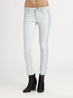 rag & bone/JEAN - Embroidered Skinny Jeans