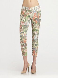 7 For All Mankind - Cropped Skinny Ankle-Zip Jeans