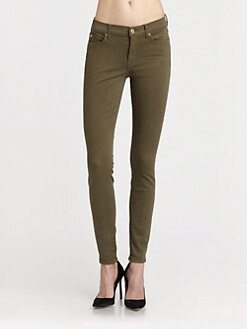 7 For All Mankind - The Skinny Jeans/Army Green