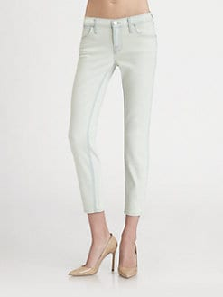J Brand - Allegra Washed-Denim Capris