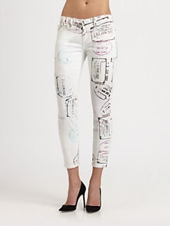 Mary Katrantzou for Current/Elliott - The Stiletto Jeans/Lilac