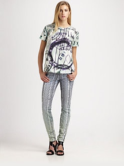 Mary Katrantzou for Current/Elliott - The Boarding Tee