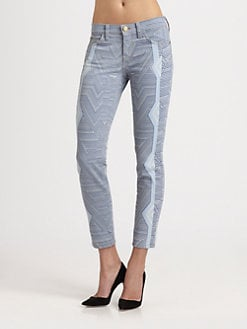 Mary Katrantzou for Current/Elliott - The Stiletto Jeans/Albatross