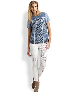 Mary Katrantzou for Current/Elliott - The Yoked Boarding Tee