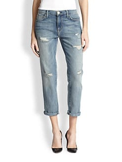 Current/Elliott - The Fling Distressed Boyfriend Jeans