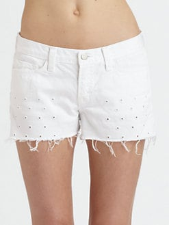 J Brand - Moto Eyelet Cut-Off Shorts