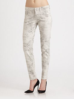J Brand - Mid-Rise Coated Skinny Jeans