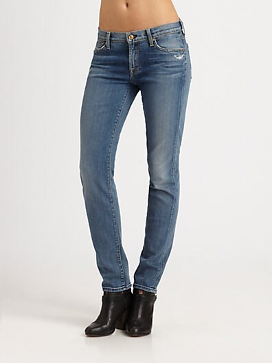The Slim Distressed Cigarette Jeans