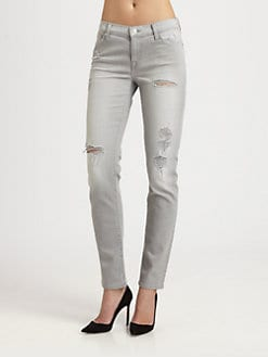 7 For All Mankind - The Slim Destroyed Cigarette Jeans