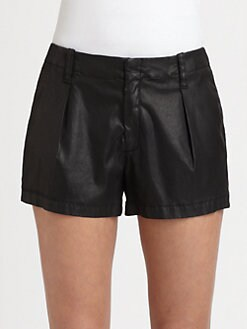 7 For All Mankind - Pleated Coated Shorts
