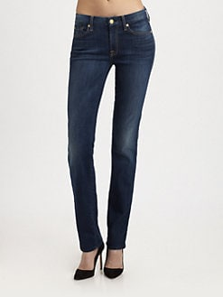 7 For All Mankind - Kimmie Straight-Leg Jeans/Radiant Medium Blue